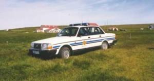 Volvo240 á Húsavík.Lögr.Hús.
